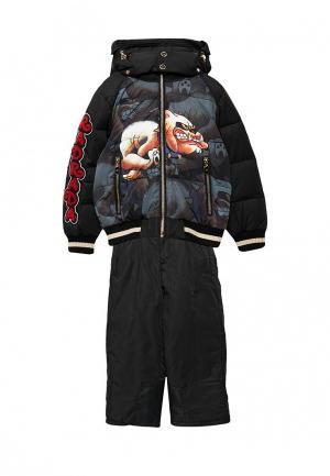 Комплект брюки и куртка Radrada. Цвет: черный