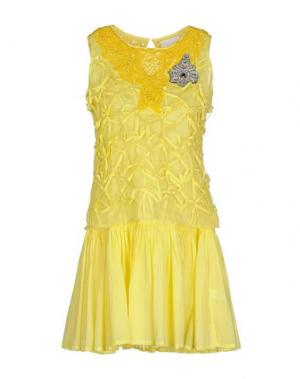 Короткое платье PRINCESSE METROPOLITAINE. Цвет: желтый