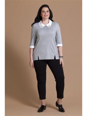 Блузка AVERI. Цвет: серый, белый