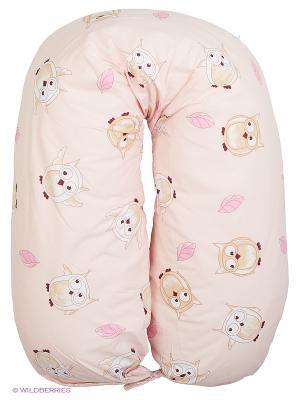 Подушка для беременных EUROMAMA. Цвет: бежевый, розовый