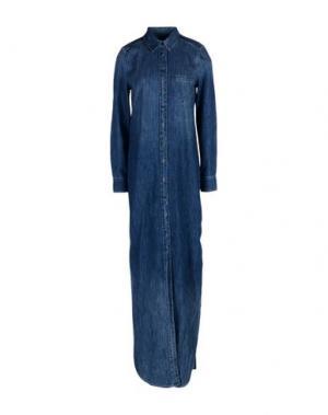 Длинное платье EQUIPMENT FEMME. Цвет: синий