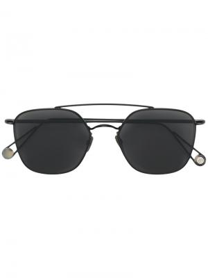 Солнцезащитные очки-авиаторы с затемненными линзами Ahlem. Цвет: чёрный