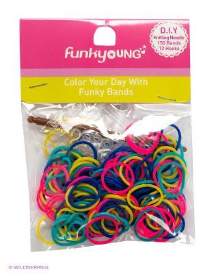 Резиночки для плетения браслетов Funky Fish. Цвет: синий