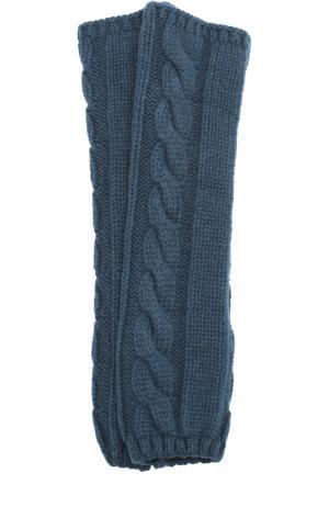 Вязаные митенки из кашемира Kashja` Cashmere. Цвет: темно-зеленый