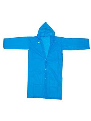 Плащ-дождевик голубой Homsu. Цвет: голубой