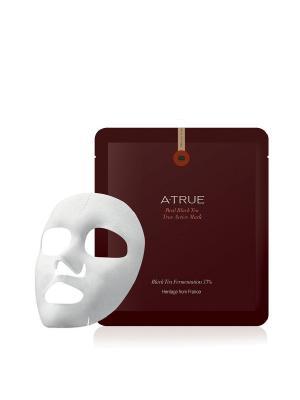 Увлажняющая тканевая маска от первых морщин Черный Чай, 25гр, 4шт. A-True. Цвет: белый