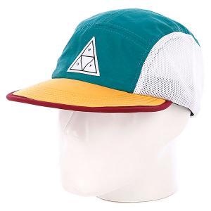 Бейсболка пятипанелька  Scout Volley Teal Huf. Цвет: зеленый,желтый