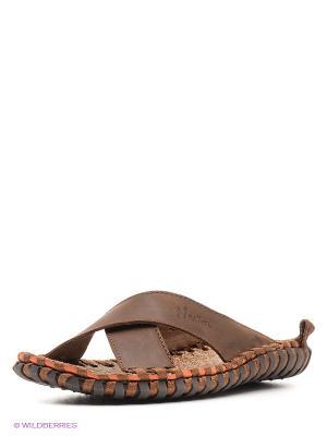 Шлепанцы Nexpero. Цвет: коричневый