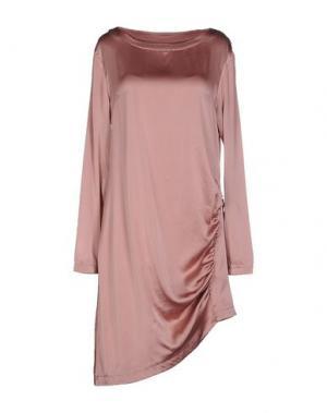 Короткое платье CA' VAGAN. Цвет: пастельно-розовый