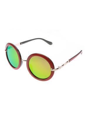 Солнцезащитные очки, iq format. Цвет: зеленый, коричневый, красный