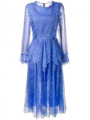 Платье Marshala Maria Lucia Hohan. Цвет: синий