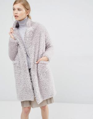 Paisie Плюшевое пальто. Цвет: серый