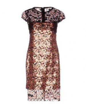 Короткое платье TALBOT RUNHOF. Цвет: светло-розовый