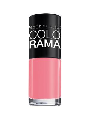 Лак для ногтей Colorama, оттенок 315, Клубничный сорбет, 7 мл Maybelline New York. Цвет: розовый