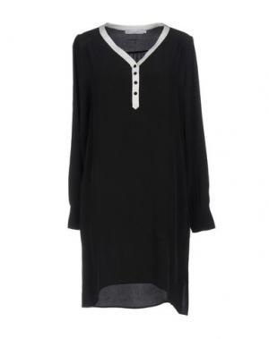 Короткое платье SILK AND CASHMERE. Цвет: черный