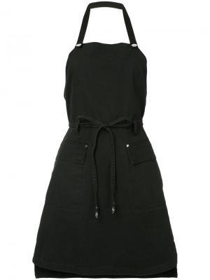 Платье в стиле фартука T By Alexander Wang. Цвет: чёрный