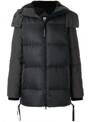 Дутая куртка с капюшоном Canada Goose. Цвет: серый