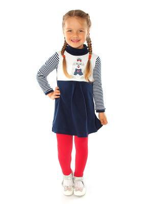 Комплект одежды Апрель. Цвет: темно-синий, красный, белый
