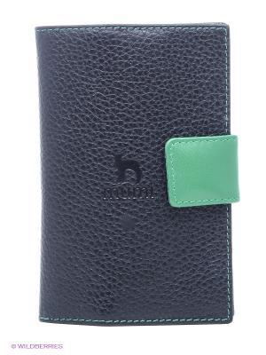 Обложка для паспорта Dimanche. Цвет: черный, зеленый
