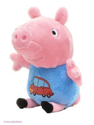 Мягкая игрушка Джордж с машинкой 20см Peppa Pig. Цвет: розовый, красный, синий