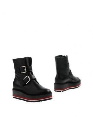 Полусапоги и высокие ботинки VICINI TAPEET. Цвет: черный