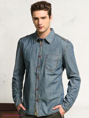 Рубашка FQ1924. Цвет: серо-голубой
