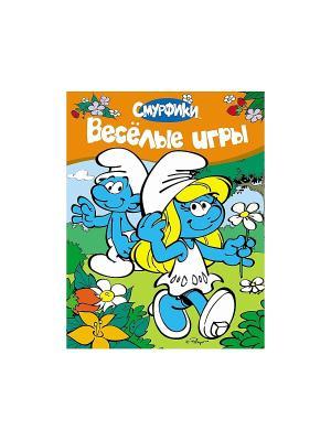 Веселые игры Смурфики. Цвет: голубой, белый, зеленый