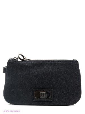 Бумажник GEOX. Цвет: черный