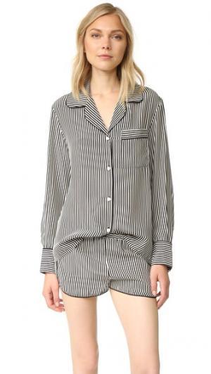 Пижама Jane с шортами Three J NYC. Цвет: черный/кремовый
