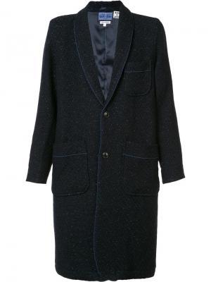 Пальто с накладными карманами Blue Japan. Цвет: синий