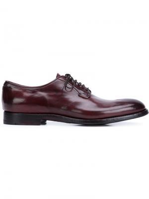 Туфли дерби на шнуровке Alberto Fasciani. Цвет: красный