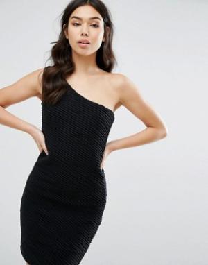 Jasmine Платье на одно плечо. Цвет: черный