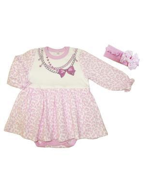 Боди Маленькая Леди Soni kids. Цвет: розовый