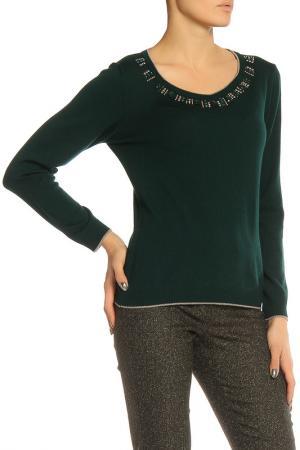 Блуза Elisa Fanti. Цвет: темно-зеленый