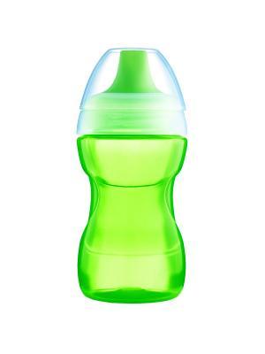 Поильник MAM, 270 мл, 8+ месяцев + сменный носик с клапаном в подарок MAM. Цвет: зеленый