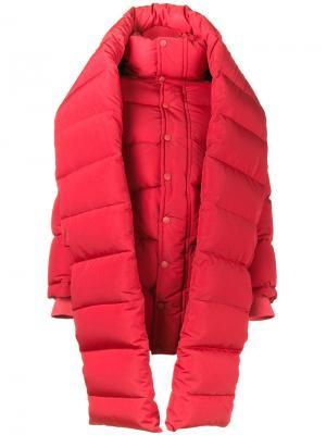 Дутая куртка кроя оверсайз Balenciaga. Цвет: красный