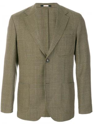 Пиджак в клетку Massimo Alba. Цвет: зелёный