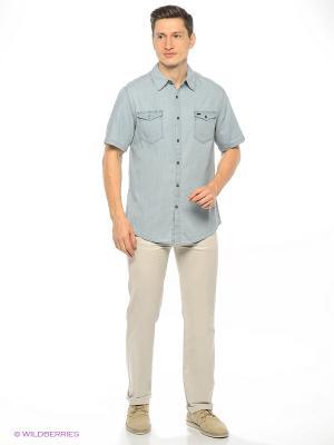 Рубашка Montana. Цвет: голубой