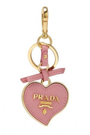Кожаный брелок Prada. Цвет: розовый