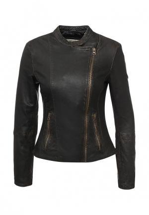 Куртка кожаная H.I.S. Цвет: коричневый