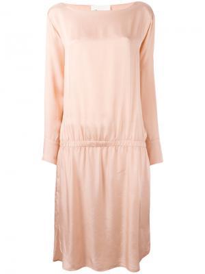 Расклешенное платье с вырезом-лодочка 8pm. Цвет: розовый и фиолетовый