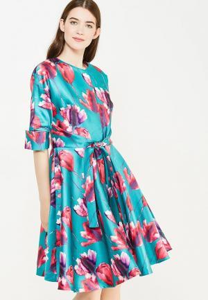 Платье Tutto Bene. Цвет: бирюзовый
