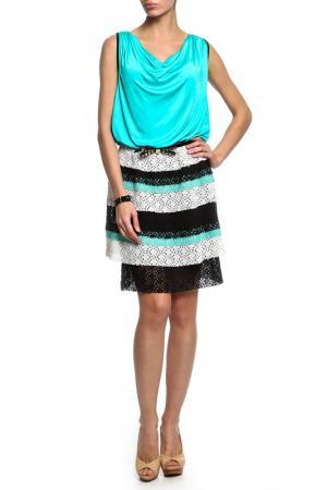Платье CLASS ROBERTO CAVALLI. Цвет: зеленый
