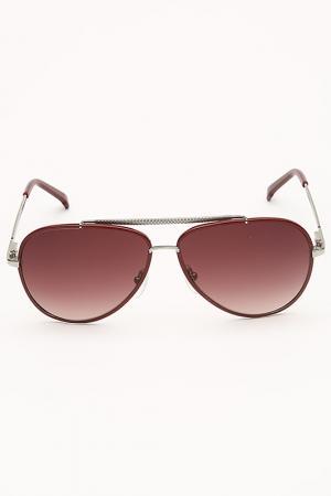 Очки солнцезащитные Lacoste. Цвет: бордовый