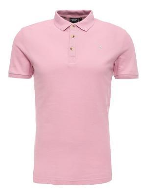 Футболка-поло Finn Flare. Цвет: розовый