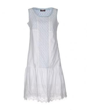 Платье до колена CORTE DEI GONZAGA. Цвет: белый