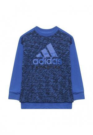 Свитшот adidas Performance. Цвет: синий