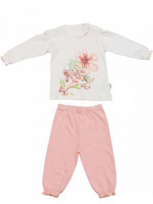 Костюм для малышей WO&GO. Цвет: молочный, персиковый