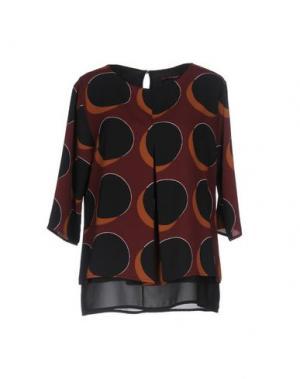 Блузка LA FEE MARABOUTEE. Цвет: красно-коричневый