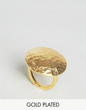 Ottoman Hands Броское овальное кольцо. Цвет: золотой